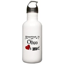 Someone in Ohio Water Bottle