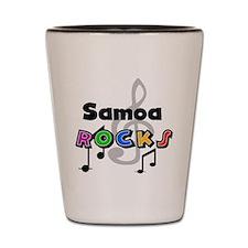 Samoa Rocks Shot Glass