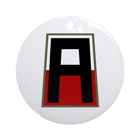 1st Army Ornament (Round)