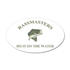 BassMasters! Do It On The Wat 22x14 Oval Wall Peel