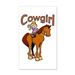 Cowgirl 22x14 Wall Peel