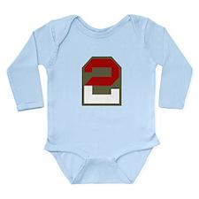 2nd Army Long Sleeve Infant Bodysuit