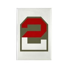 2nd Army Rectangle Magnet