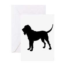 Bloodhound Silhouette Greeting Card
