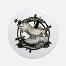 Fishing Legend Ornament (Round)