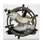 Fishing Legend Tile Coaster