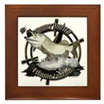 Fishing Legend Framed Tile