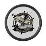 Fishing Legend Large Wall Clock