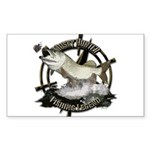 Fishing Legend Sticker (Rectangle)