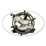 Fishing Legend Sticker (Oval)