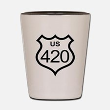 US Highway 420 Shot Glass