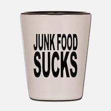 Junk Food Sucks Shot Glass
