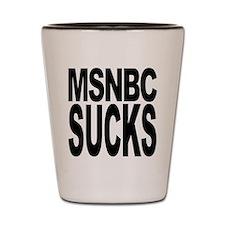MSNBC Sucks Shot Glass