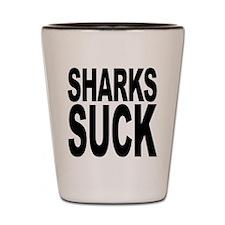 Sharks Suck Shot Glass