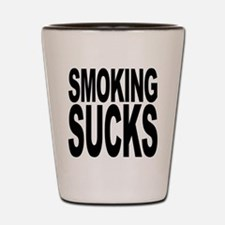 Smoking Sucks Shot Glass
