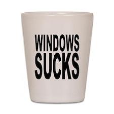 Windows Sucks Shot Glass