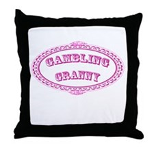Gambling Granny Throw Pillow