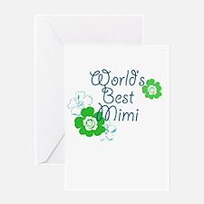 World's Best Mimi Greeting Card