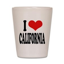 I Love California Shot Glass