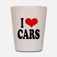 I Love Cars Shot Glass