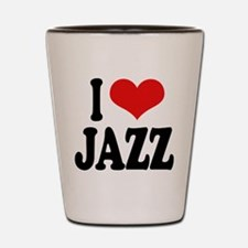 I Love Jazz Shot Glass