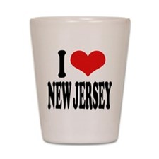 I Love New Jersey Shot Glass
