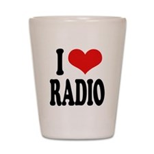 I Love Radio Shot Glass