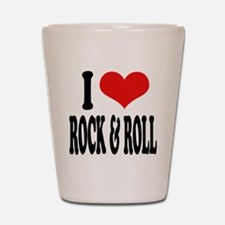 I Love Rock & Roll Shot Glass