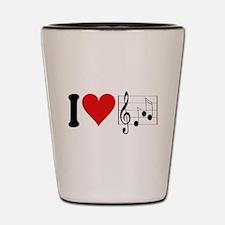 I Love Music (design) Shot Glass