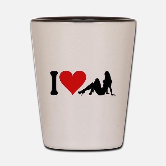 I Love Strippers (design) Shot Glass