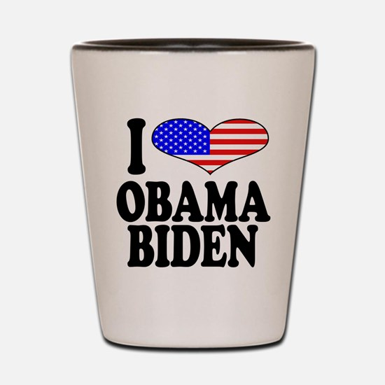 I Love Obama/Biden Shot Glass