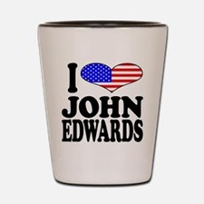 I Love John Edwards Shot Glass