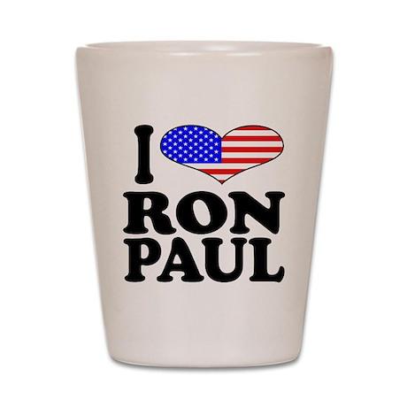 I Love Ron Paul Shot Glass