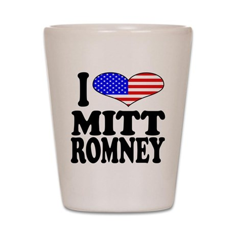 I Love Mitt Romney Shot Glass