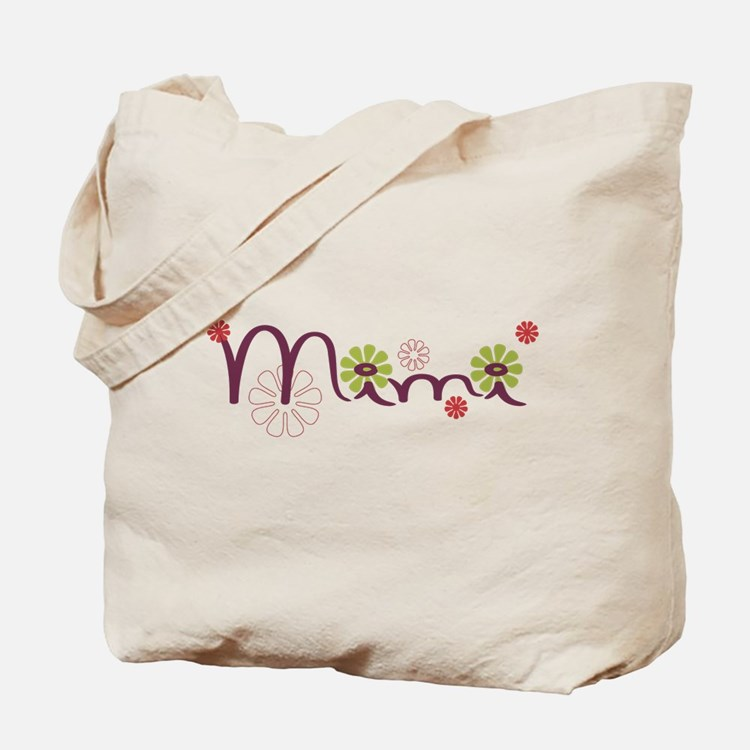 Mimi With Flowers Tote Bag