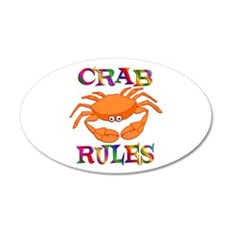 Crab Rules 22x14 Oval Wall Peel