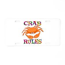 Crab Rules Aluminum License Plate