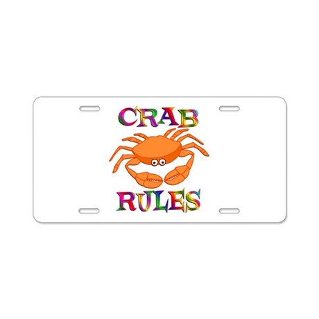 Crab Rules Aluminum License Plate