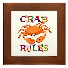 Crab Rules Framed Tile