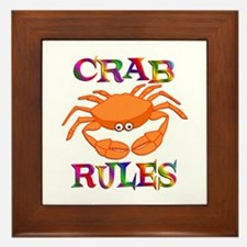 Crab Rules Framed Tile