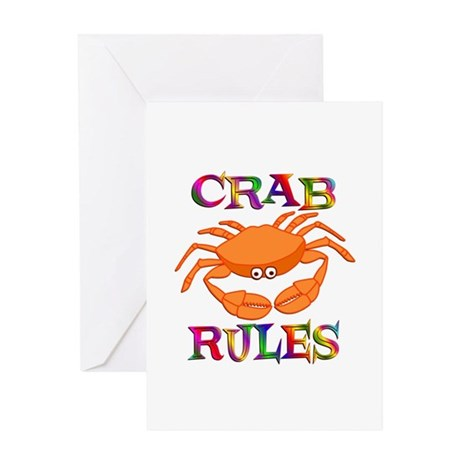 Crab Rules Greeting Card