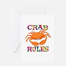Crab Rules Greeting Card