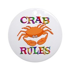Crab Rules Ornament (Round)