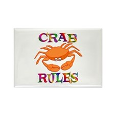 Crab Rules Rectangle Magnet