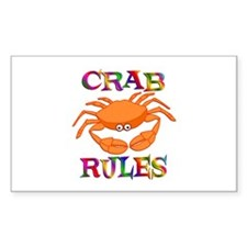 Crab Rules Decal