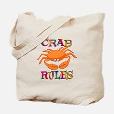Crab Rules Tote Bag