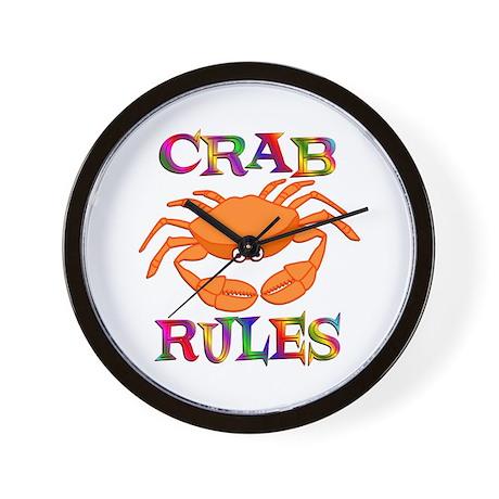 Crab Rules Wall Clock