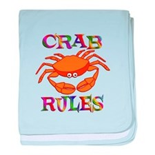Crab Rules baby blanket