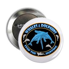"Stop Hunting Whales 2.25"" Button"