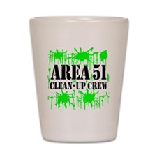 Area 51 Clean-Up Crew Shot Glass